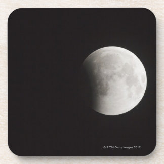 Beginning of a Total Eclipse of the Moon Beverage Coasters