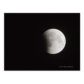 Beginning of a Total Eclipse of the Moon Postcard