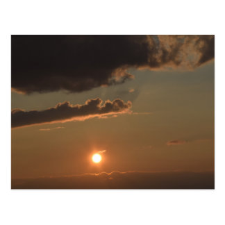 Beginning of Sun-Setting Postcard