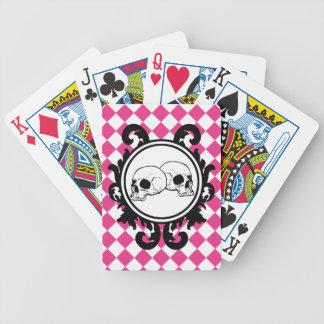 Begird Ivory (Magenta) Playing Cards