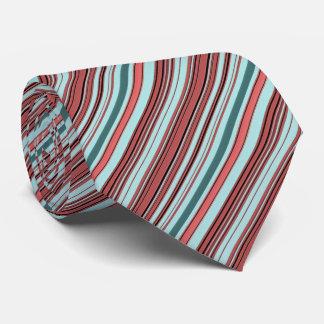 Begonia and Teal Stripes Tie