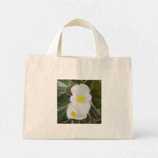 Begonia Garden Flower White Tote Bags