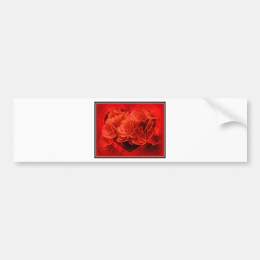 Begonia Heart Valentines Day Bumper Sticker