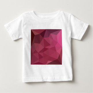 Begonia Pink Abstract Low Polygon Background Baby T-Shirt
