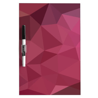Begonia Pink Abstract Low Polygon Background Dry Erase Board