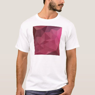 Begonia Pink Abstract Low Polygon Background T-Shirt