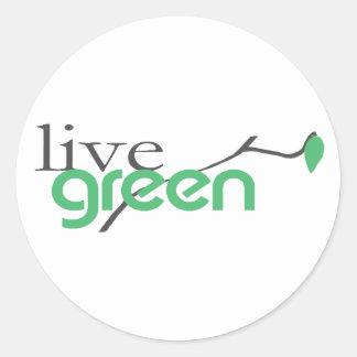 beGreen4 Round Sticker