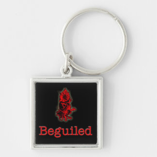 Beguiled keyring Silver-Colored square key ring