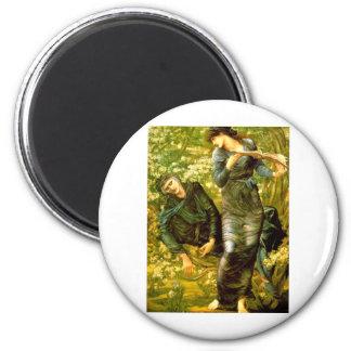 Beguiling of Merlin ~ Burne-Jones 1874 Painting 6 Cm Round Magnet