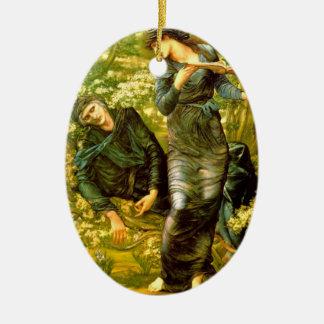 Beguiling of Merlin ~ Burne-Jones 1874 Painting Ceramic Oval Decoration