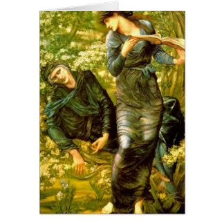 Beguiling of Merlin ~ Burne-Jones 1874 Painting Greeting Card