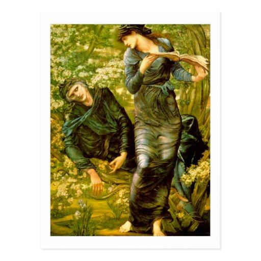 Beguiling of Merlin - Edward Burne-Jones Postcards