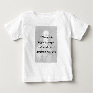 Begun In Anger - Benjamin Franklin Baby T-Shirt