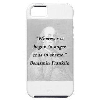 Begun In Anger - Benjamin Franklin Case For The iPhone 5