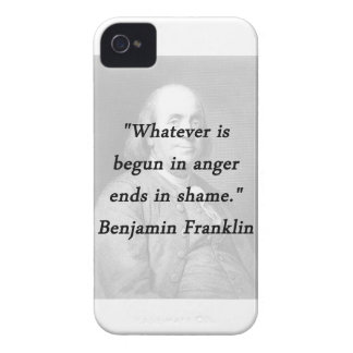 Begun In Anger - Benjamin Franklin iPhone 4 Covers
