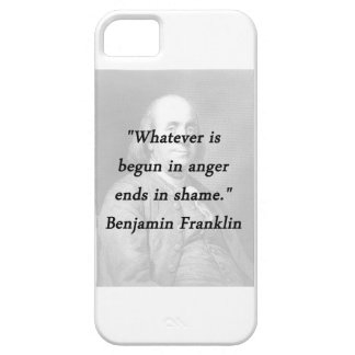Begun In Anger - Benjamin Franklin iPhone 5 Cover