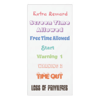 Behavior Clip Chart for Parents or Teachers Door Sign