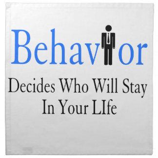 Behavior Napkin