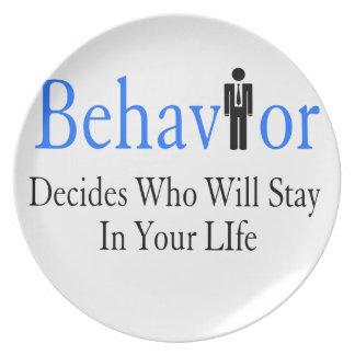 Behavior Plate