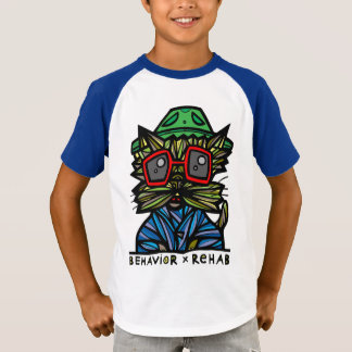 """Behavior Rehab"" Boys' Short Sleeve Raglan T-Shirt"