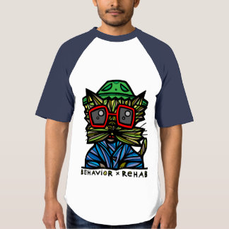 """Behavior Rehab"" BuddaKats Men's Raglan T-Shirt"