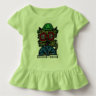 """Behavior Rehab"" Toddler Ruffle Tee"