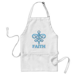 Behcet s Disease Faith Fleur de Lis Ribbon Apron