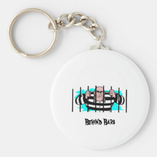 behind bars, Behind Bars Basic Round Button Key Ring