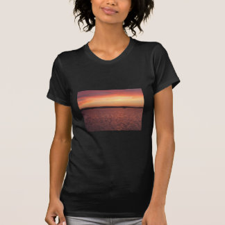 Behind Bayside Cafe - Red, Yellow, And Pink Sunset Shirts
