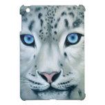 Behind Blue Eyes - Snow Leopard iPad Mini Cover