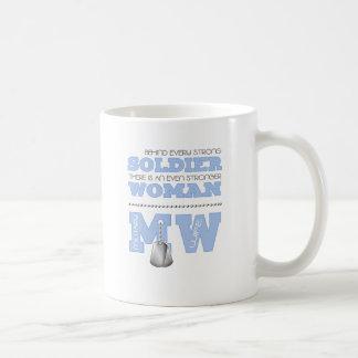 BEHIND EVERY SOLDIER WIFE COFFEE MUG