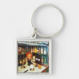 Behind the Counter at the Drugstore Key Ring