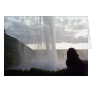Behind the Waterfall in Iceland Card