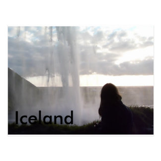 Behind the Waterfall in Iceland Postcard