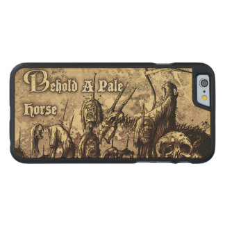 Behold a pale horse_ wood phone case