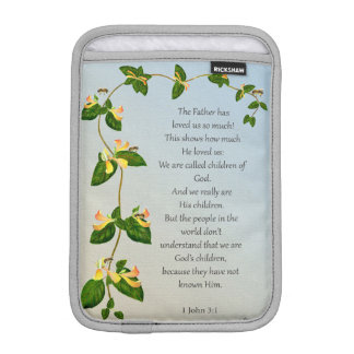 Behold what manner of love the Father Bible Verse iPad Mini Sleeve