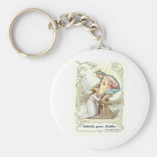 'Behold Your Mother' Blessed Virgin Mary Items Key Ring