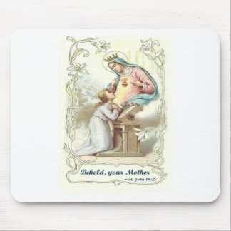 'Behold Your Mother' Blessed Virgin Mary Items Mouse Pad