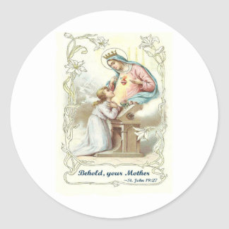 'Behold Your Mother' Blessed Virgin Mary Items Sticker