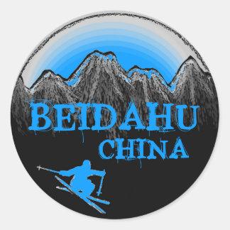 Beidahu China blue ski stickers