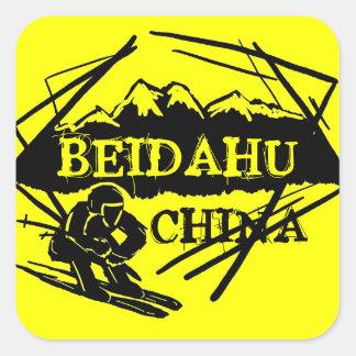 Beidahu China yellow ski logo stickers