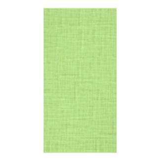 beige001 LIGHT GREEN SPRING CLOTH TEXTURES DIGITAL Custom Photo Card