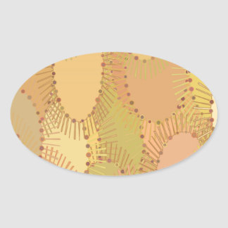 Beige Abstract Pattern Stickers