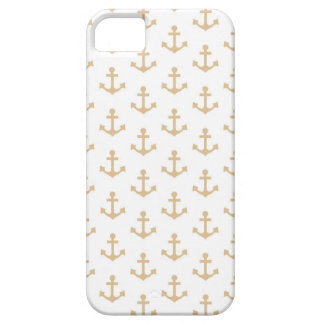 Beige Anchor Pattern Nautical Sailor Barely There iPhone 5 Case