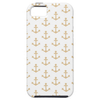 Beige Anchor Pattern Nautical Sailor iPhone 5 Case