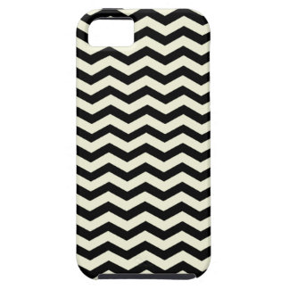 Beige And Black Zigzag Chevron Pattern iPhone 5 Cover