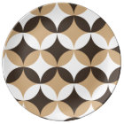 Beige and brown circles plate