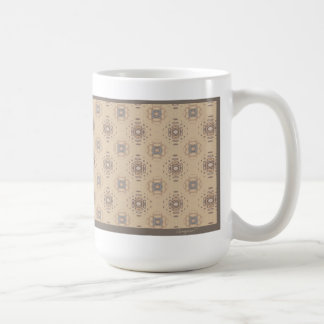 Beige and Brown Print Mug