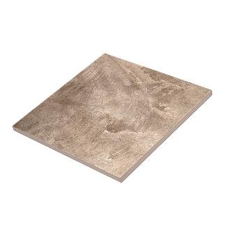 Beige And Brown Textured Grunge Pattern Ceramic Tile