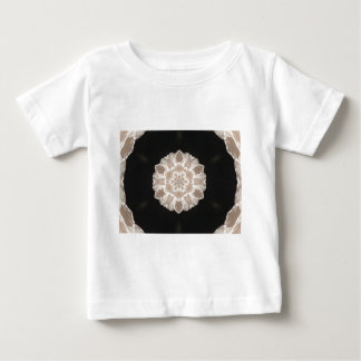 beige and cream floral abstract art baby T-Shirt